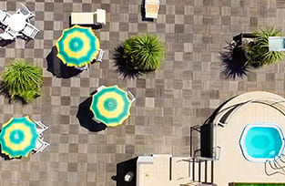 terrazzo alto hotel panoramico in Riviera Romagnola